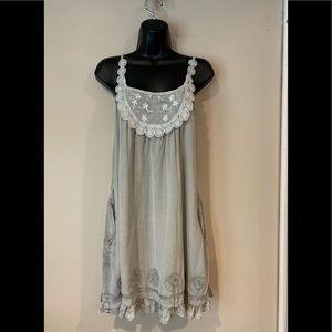 Mineral wash  Spaghetti Strap dress/Tunic